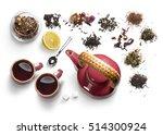 tea accessories on a white... | Shutterstock . vector #514300924