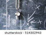 whistle of a soccer   football... | Shutterstock . vector #514302943