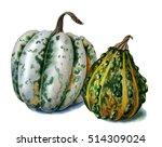 small decorative pumpkins.... | Shutterstock . vector #514309024