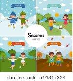 large set of seasons. beautiful ... | Shutterstock .eps vector #514315324