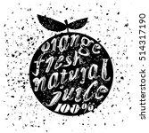 orange icon typography design... | Shutterstock .eps vector #514317190