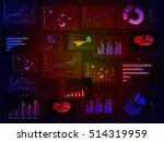 financial graphs analysis | Shutterstock . vector #514319959
