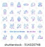 winter sport gradient outline... | Shutterstock .eps vector #514320748