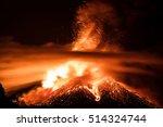 Night Eruption Of Volcano Etna
