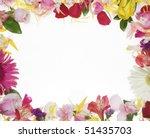 flower border over white... | Shutterstock . vector #51435703
