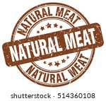 natural meat stamp. brown round ... | Shutterstock .eps vector #514360108