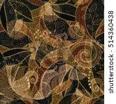 hand drawn seamless pattern... | Shutterstock .eps vector #514360438