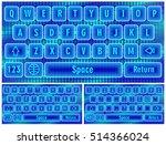 blue virtual keyboard for a...