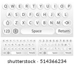 white virtual keyboard for a...