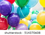balloons party. funny symbolic... | Shutterstock . vector #514370608