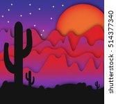 western landscape | Shutterstock . vector #514377340