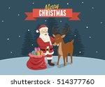 merry christmas background  ... | Shutterstock .eps vector #514377760