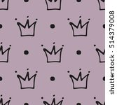 seamless pattern with crowns.... | Shutterstock .eps vector #514379008