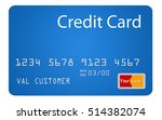 generic blue credit card with... | Shutterstock . vector #514382074