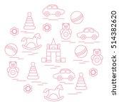 vector illustration kids... | Shutterstock .eps vector #514382620