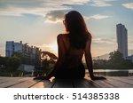 silhouette of beautiful girl...   Shutterstock . vector #514385338