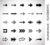 arrow icons set   vector... | Shutterstock .eps vector #514388593