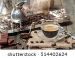 espresso glass cup with coffee... | Shutterstock . vector #514402624