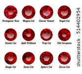 set of realistic red rubies... | Shutterstock .eps vector #514402954