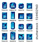 set of realistic blue amethysts ...   Shutterstock .eps vector #514402960