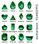 set of realistic green emeralds ... | Shutterstock .eps vector #514402993