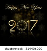 vector 2017 happy new year... | Shutterstock .eps vector #514406020