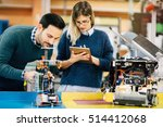 robotics engineer students... | Shutterstock . vector #514412068
