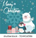 merry christmas vintage card... | Shutterstock .eps vector #514416586