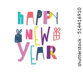 hand drawn christmas design... | Shutterstock .eps vector #514416910