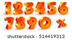 set of volumetric shiny numbers ... | Shutterstock .eps vector #514419313