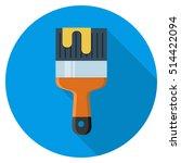 paint brush icon | Shutterstock .eps vector #514422094