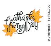 thanksgiving day hand drawn... | Shutterstock .eps vector #514431700