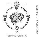 brainstorming infographic... | Shutterstock .eps vector #514433428