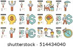 business vector line icon set... | Shutterstock .eps vector #514434040