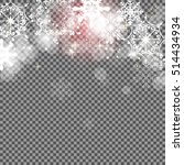 falling shining snowflakes and... | Shutterstock .eps vector #514434934