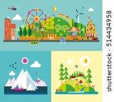 modern flat design conceptual... | Shutterstock .eps vector #514434958