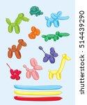balloon animals set   dog ...   Shutterstock .eps vector #514439290