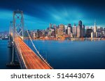 San Francisco At Sunrise With...