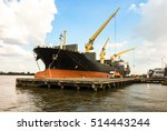 shipping port  container cargo... | Shutterstock . vector #514443244