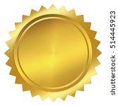 golden seal isolated on white... | Shutterstock . vector #514445923
