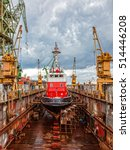 reparation fire boat in large... | Shutterstock . vector #514446208