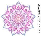 outline flower mandala.... | Shutterstock .eps vector #514447033