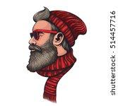 vector color hipster santa... | Shutterstock .eps vector #514457716