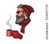 vector color hipster santa... | Shutterstock .eps vector #514457719