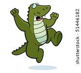 alligator jumping   Shutterstock .eps vector #51446182