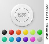 blank button badge. | Shutterstock .eps vector #514464220