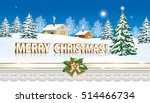 christmas card with christmas... | Shutterstock .eps vector #514466734