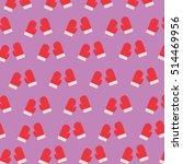 christmas glove pattern | Shutterstock .eps vector #514469956
