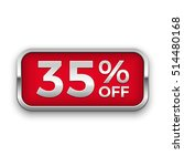35  off vector badge  silver | Shutterstock .eps vector #514480168
