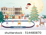 christmas greetings  christmas... | Shutterstock .eps vector #514480870